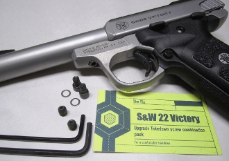 Smith & Wesson SW22 Victory Takedown Screw, Barrel Set Screw Upgrade Combination Pack.